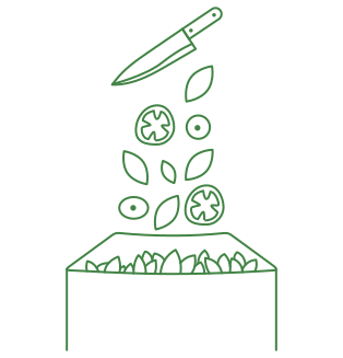 Illustration of ingredients going into canister